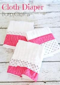 Cloth Diaper Burp Cloths - Eclectic Momsense