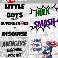 4 FREE Superhero Printables & Party Games