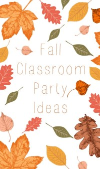 Fall Classroom Party Ideas - Eclectic Momsense