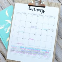 Printable Calendar with Habit Tracking