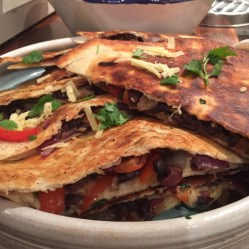 Caramelized Onions and Black Beans Quesidellas
