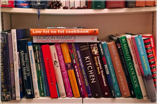 cupboards full of cook books