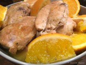 Bajan Orange Chicken with Green Beans