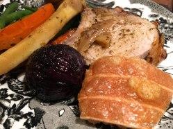 Roast Pork, Stuffed Apples & Parsnips