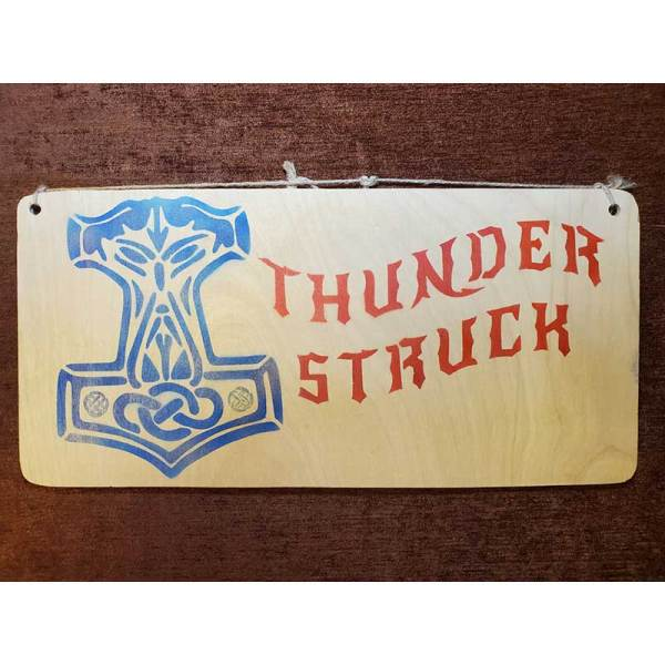"""""""Thunderstruck"""" with Mjolnir sign by Eclectics Creations"""
