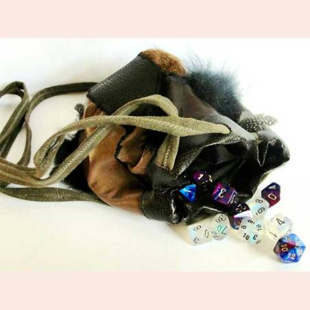 Leather Dice bag by Adventurer's Emporium