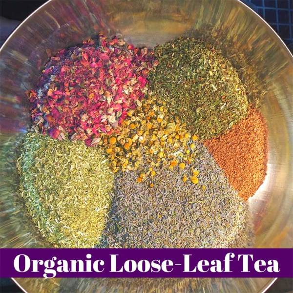 Wide variety of loose leaf teas by Route2Route Botanicals