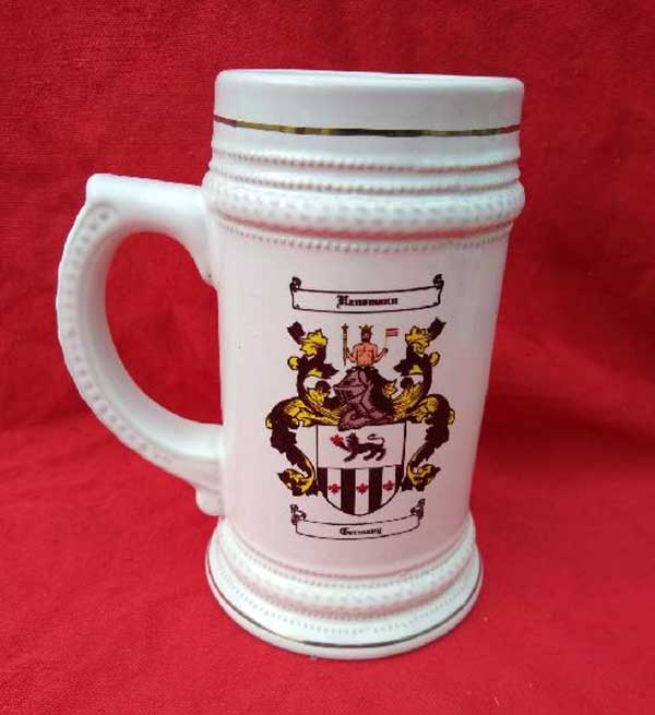 Family Crest Stein by James Rea - Ancestorian