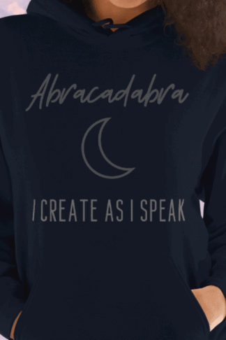Abracadabra: I Create As I Speak products for witches. Abracadabra is a powerfully magic word that will increase the potency of your witchcraft. Create spells that work with this one simple word that will change your magick forever. Create your own reality with a word that pagans, Wiccans, and witches have started to reclaim. Gain control over occult forces, raise your vibration, and manifest abundance with the law of attraction. #witchcraft #lawofattraction #wicca #pagan