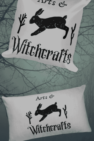 Arts & Witchcrafts hare art for eclectic witches. Aesthetic witch shirts, cool pagan coffee mugs, cute Wiccan stickers, and eco friendly occult tote bags. Perfect for kitchen witches, green witches, chaos witches, and more. Show off your witch style, or use the stickers on your pagan altar. Includes witch symbols like the pentagram. You don't have to wait for Halloween to use witch magic! Forest witch, male witch, coven cute witch. #witch #fashion #pagan #witchcraft