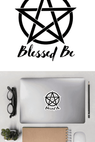 Blessed be pentacle sticker for your laptop, bullet journals, or planners. #witchcraft #magic #magick #pentacle #blessedbe #wicca #pagan