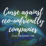A curse against eco-unfriendly companies and CEOs