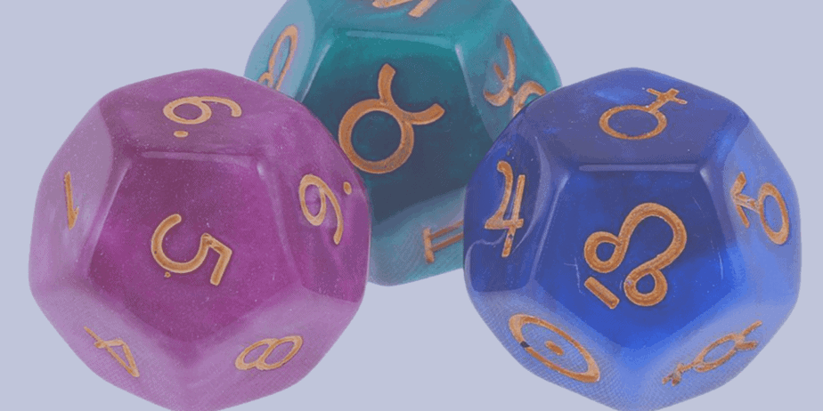 Decorative Image | How To Read The Symbols On Astrology Dice | I recently started selling a little-known divination tool called Astrology Dice.  It's very similar to other forms of dice divination, but with a twist!