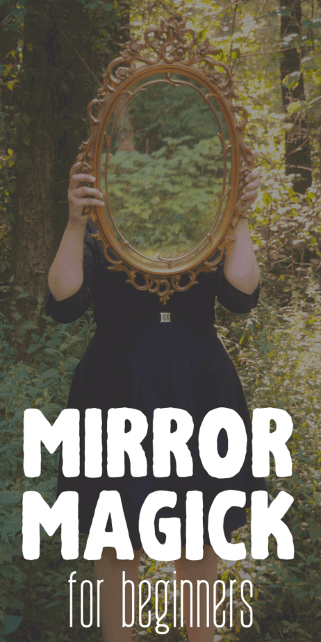 Mirror magick for beginners. Mirror magick witches use mirrors for divination. Fill your book of shadows with information about the history of mirror magick. Easy witchcraft information and techniques. Occult history of mirror magic. Pagans and Wiccans sometimes use mirrors to divine the future. #divination #mirrors #scrying #witchcraft #witch #occult #pagan #wicca #magick
