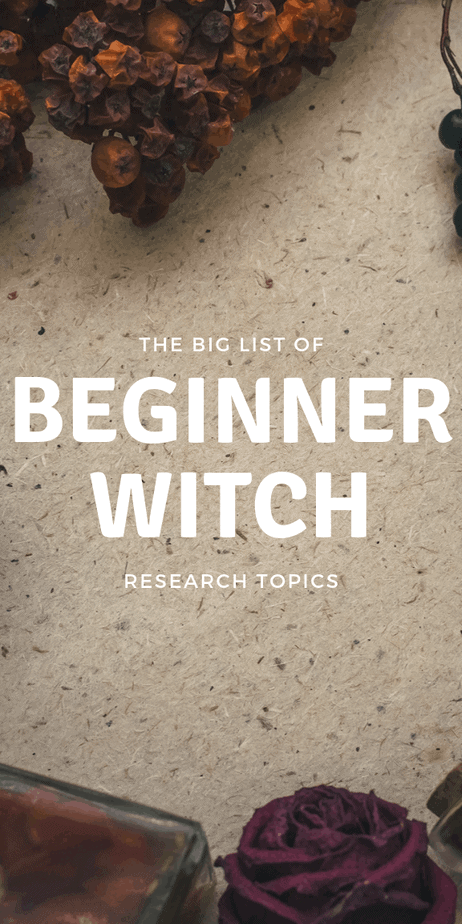 If you're a beginner witch, you don't know what you don't know. Use this handy list to help guide your research and magick studies. #witchcraft #wicca #pagan #witch #occult #magick #magic #witchy #druid
