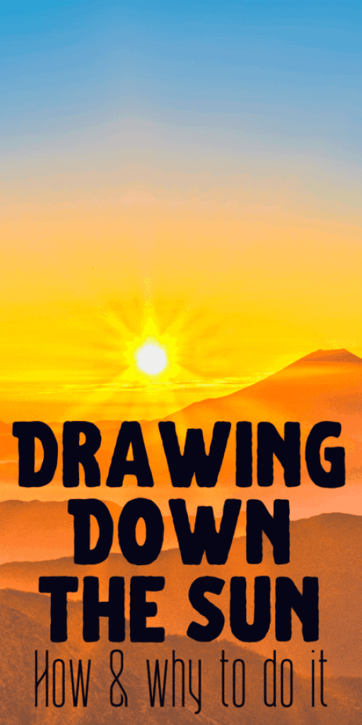 Drawing down the sun for witchcraft and occult uses. Use a magickal mirror, you can empower it with the sun's energy to use in witch spells that work. #witchcraft #occult #pagan #wicca