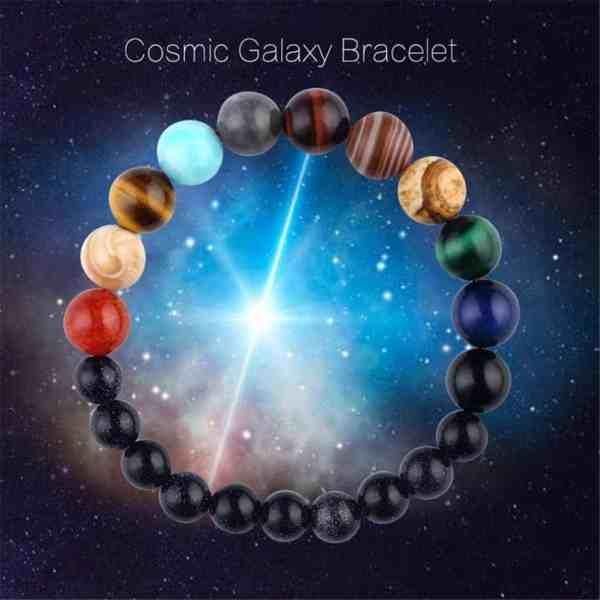Decorative Image  |  Space Witch Planet Bracelet  | 8 gorgeous planets represented on one bracelet. Tie yourself to the heavenly bodies even when you can't see them in the daylight with this beautiful bracelet.