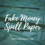 You can use this fake money spell paper to draw your sigils or write your petitions.