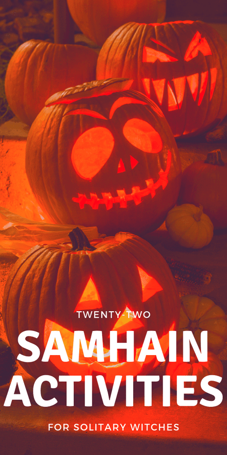 Learn the meaning of Samhain and activities you can do as a solitary witch. #samhain #halloween #witchcraft #witch #eclecticwitch #eclecticwitchcraft #eclectic #pagan #wicca #paganism #wiccan #sabbat #death