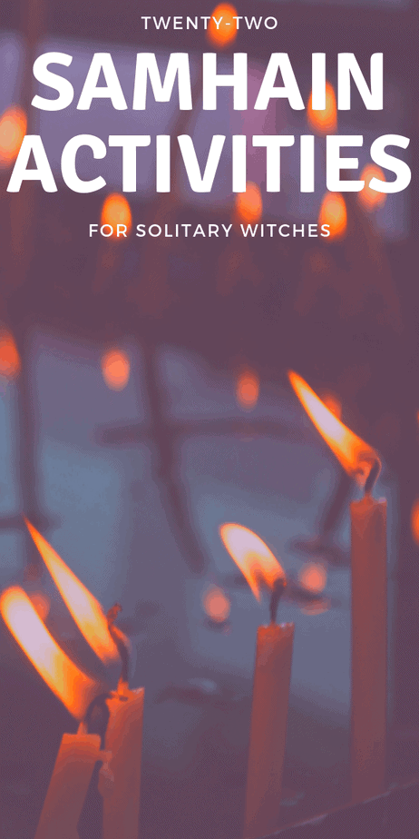 Solitary pagan activities for the Halloween season. #samhain #halloween #witchcraft #witch #eclecticwitch #eclecticwitchcraft #eclectic #pagan #wicca #paganism #wiccan #sabbat #death