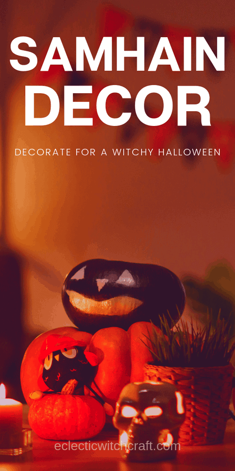 Samhain decor ideas for your next Halloween party. Check out the 2019 Halloween decor options! Perfect for eclectic witches, pagans, and Wiccans. // Holidays Halloween ideas. Halloween candy. Family Halloween party ideas for kids. Creepy Halloween decor. Halloween wreaths. Halloween window crafts decor. #witchcraft #witch #pagan #wicca #halloweenparty #halloweendecor #samhain