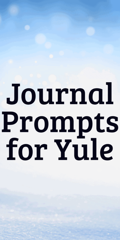Journal prompts for Yule. The perfect pagan writing prompts. Bullet journal ideas. Journaling tips. Self care techniques. #yule #christmas #bulletjournal #journaling #writing #writingprompts #pagan #wicca #occult #witch #witchcraft #winter #journal #selfcare #bujo