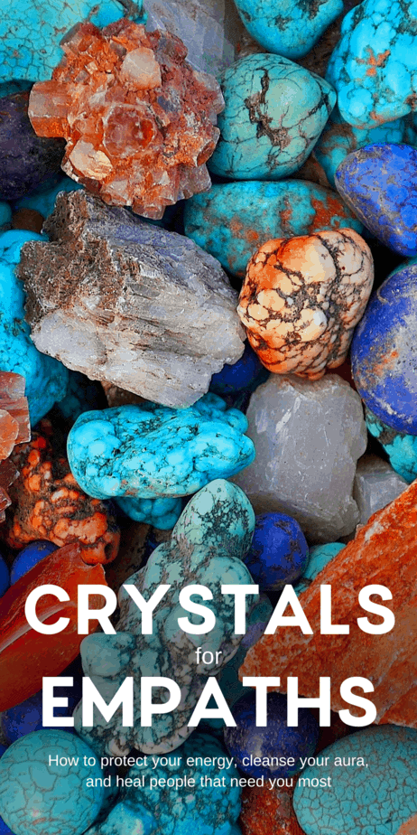 Empaths need to worry about self care. Try these healing crystals. Being an empath isn't a walk in the park. In fact, it can be pretty rough when you're surrounded by negative people that can't control the emotional energy they throw out at you. #crystals #healing #selfcare #empath #psychic #witch #witchcraft #pagan #wicca