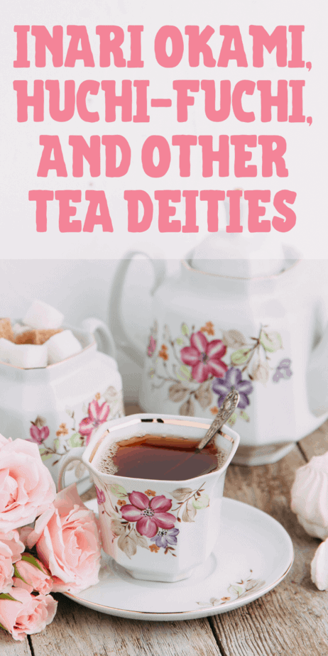 Tea deities. A primer on the myths of tea for witches, Wiccans, and pagans. Herbal tea. Information for tea witches. Chinese tea leaves. Japanese mythology. Mythology facts. Pagan beliefs. Pagan spells. Pagan recipes. Wicca for beginners. Wiccan crafts. Herbalism witchcraft. Herbalism beginner. Green witch beginner. #greenwitch #witch #witchcraft #tea #mythology #greentea #herbalism #herbal #pagan #wicca #wiccan #paganism #gods #goddesses #goddess #god #deity #witches