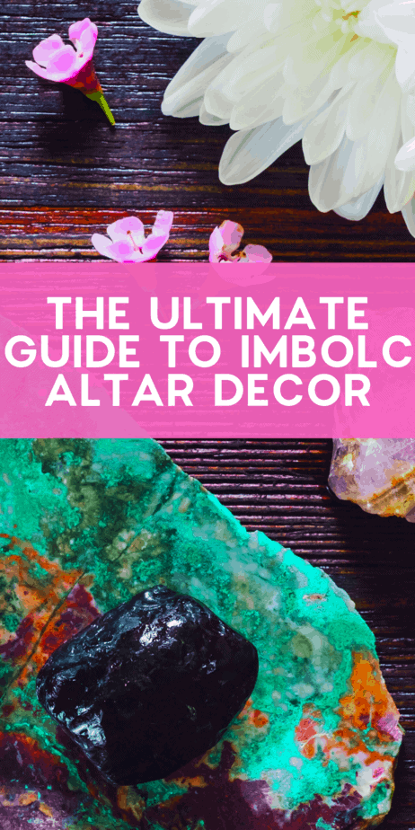 The Ultimate Guide to Imbolc Altar Decor. Find the flowers, herbs, symbols, and crafts that you should place on your altar for the pagan holiday Imbolc. Celebrate Brigid and the rebirth of the God of the Sun with this witch Sabbat in February! Imbolc goddess. Imbolc pagan. Imbolc celebration. Imbolc prayer. Happy Imbolc! Imbolc ideas. Imbolc pictures. Imbolc herbs. Imbolc crystals. Imbolc flowers. #imbolc #candlemas #pagan #wiccan #paganism #wicca #witch #sabbat #wheeloftheyear #holiday