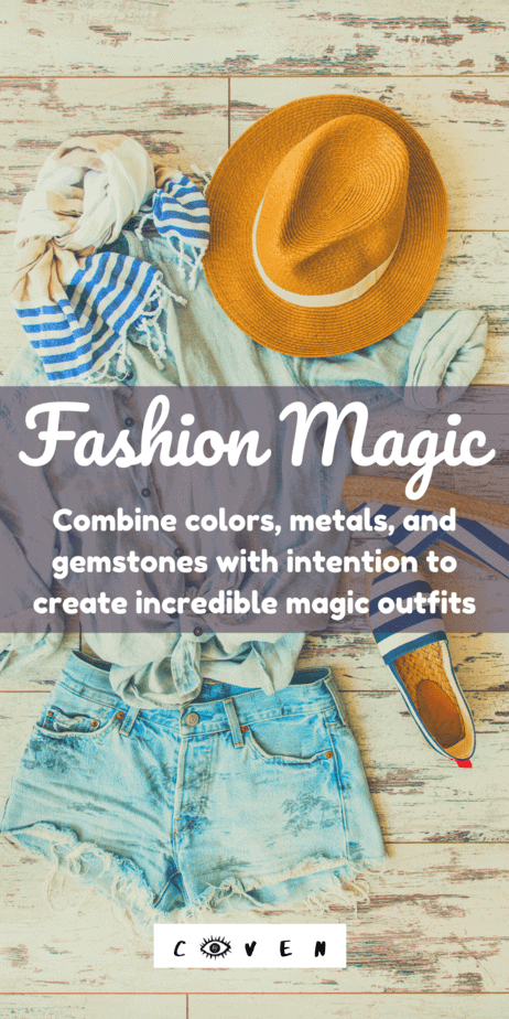 Fashion magic: Combine colors, metals, and gemstones with intention to create incredible magic outfits for witches. Every day can be magical if you're a witch! Beginner fashion witchcraft. Outfit spells that work. What kind of clothes do witches wear? Jewelry metal correspondences. Clothes colors correspondences. Gemstone magical properties. Sigils and blessing magic. Combining the different elements of your outfit into one grand spell is where the really big magic happens! #witchcraft #fashion