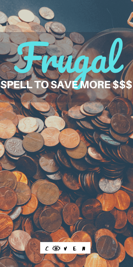 Try this frugal spell to save money this year. Witchcraft to make you stick to your zero based budget. January is typically a frugal month for a lot of people, and I'm definitely one of them. After spending way too much on gifts and hosting some parties (parties are expensive!), I'm ready to let my wallet heal a little bit. #witchcraft #frugal #magic #pagan #witch #budget
