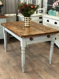 Shabby chic Victorian solid pine dining/kitchen table ...