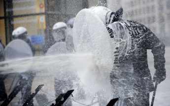 A protest staged by dairy farmers in Brussels has entered its second day. Farmers sprayed thousands of litres of fresh milk at the European Parliament in ...