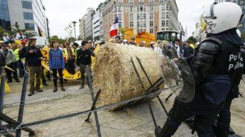 european farmers on strike