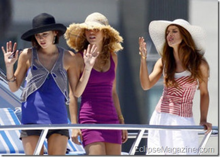 Cast Members On Set Of '90210' In Marina del Rey