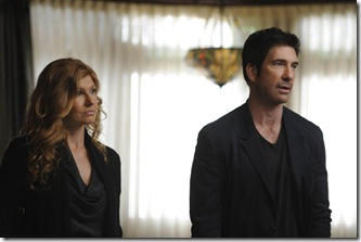 AMERICAN HORROR STORY: L-R: Connie Britton as Vivien Harmon and Dylan McDermott as Ben Harmon in AMERICAN HORROR STORY airing on FX. CR: Robert Zuckerman.