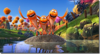 "You may hear the signature sound of Truffula Valley's own Humming-Fish from miles away in ""Dr. Seuss' The Lorax"", a 3D-CG adventure from the creators of ""Despicable Me"" and the imagination of Dr. Seuss."