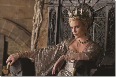 "CHARLIZE THERON as the Queen in the epic action-adventure ""Snow White and the Huntsman"", the breathtaking new vision of the legendary tale from the producer of ""Alice in Wonderland""."