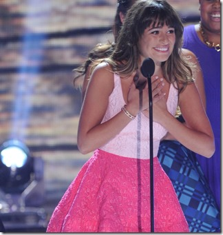 TEEN CHOICE 2013: GLEE cast member Lea Michele at the TEEN CHOICE 2013, airing LIVE Sunday, Aug. 11 (8:00-10:00 PM ET live/PT tape-delayed) on FOX at Gibson Amphitheater, Universal City, CA.  CR: Ray Mickshaw/FOX
