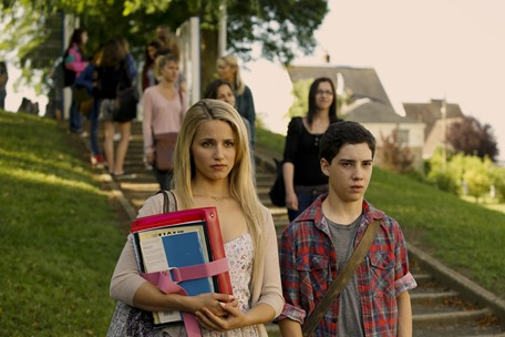 """M 319  Dianna Agron and John D'Leo star in Relativity Media's """"THE FAMILY"""". """"  © 2012 EuropaCorp. TF1 Films Production. Grive Productions. All Rights Reserved."""