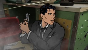 """ARCHER: Episode 1, Season 5 """"White Elephant"""" (airing Monday, January 13, 10:00 pm e/p). Someone dies.  Someone who has been with the ISIS crew from the beginning.  And then things get crazy. Written by Adam Reed. Pictured: Sterling Archer (voice of H. Jon Benjamin). FX Network"""