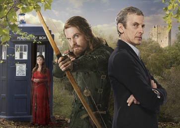 Picture shows: JENNA COLEMAN as Clara Oswald, TOM RILEY as Robin and PETER CAPALDI as Doctor Who