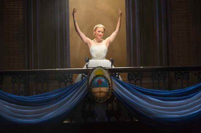 Evita 1small - Caroline Bowman as 'Eva Peron' in the National Tour of EVITA. Photo Credit Richard Termine