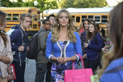 "PRETTY LITTLE LIARS - ""Miss Me x 100"" - Its Alison's first day back at Rosewood High and Mona and her army are ready in ""Miss Me x 100,"" the 100th episode of ABC Family's hit original series ""Pretty Little Liars,"" premiering Tuesday, July 8th (8:00 - 9:00 PM ET/PT). (ABC FAMILY/Eric McCandless) SASHA PIETERSE"
