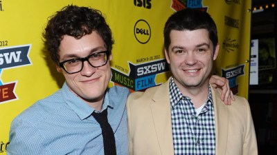 """AUSTIN, TX - MARCH 12:  Director Phil Lord (L) and director Christopher Miller arrive at the World Premiere of  """"21 Jump Street"""" during the 2012 SXSW Music, Film + Interactive Festival at Paramount Theater on March 12, 2012 in Austin, Texas.  (Photo by Michael Buckner/Getty Images for SXSW)"""