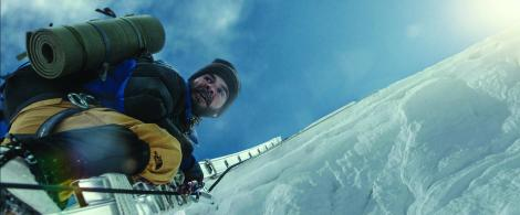 Everest - Crossing a cravasse