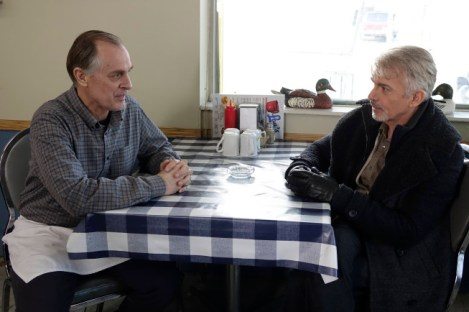 """FARGO """"A Fox, A Rabbit, and A Cabbage"""" -- Episode 109 -- Airs Tuesday, June 10, 10:00 pm e/p) -- Pictured: (L-R) Keith Carradine as Lou Solverson, Billy Bob Thornton as Lorne Malvo -- CR: Chris Large/FX"""