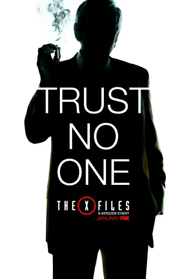 THE X FILES:  The next mind-bending chapter of THE X-FILES debuts with a special two-night event beginning Sunday, Jan. 24 (10:00-11:00 PM ET/7:00-8:00 PM PT), following the NFC CHAMPIONSHIP GAME, and continuing with its time period premiere on Monday, Jan. 25 (8:00-9:00 PM ET/PT). The thrilling, six-episode event series, helmed by creator/executive producer Chris Carter and starring David Duchovny and Gillian Anderson as FBI Agents FOX MULDER and DANA SCULLY, marks the momentous return of the Emmy Award- and Golden Globe-winning pop culture phenomenon, which remains one of the longest-running sci-fi series in network television history. ©2015 Fox Broadcasting Co.  FOX