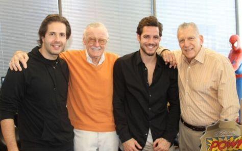 (From Left to Right) Terry Dougas, Stan Lee, Paris Kasidokostas-Latsis, Gill Champion