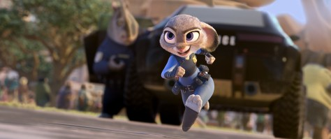 "ZOOTOPIA – OFFICER HOPPS -- Judy Hopps (voice of Ginnifer Goodwin) believes anyone can be anything. Being the first bunny on a police force of big, tough animals isn't easy, but Hopps is determined to prove herself. Featuring score by Oscar®-winning composer Michael Giacchino, and an all-new original song, ""Try Everything,"" performed by Grammy® winner Shakira, Walt Disney Animation Studios' ""Zootopia"" opens in U.S. theaters on March 4, 2016. ©2015 Disney. All Rights Reserved."